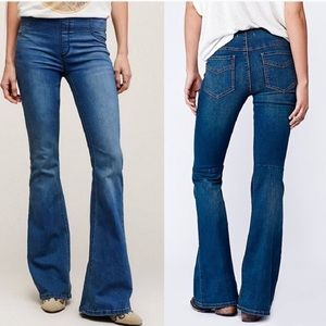 Free People Pull On bell bottom flare jeans